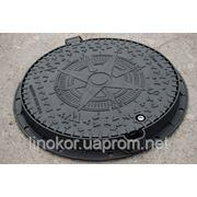 Люк канализационный средний с защитой от краж «KBL03P EUROPA» В125 15 тонн фото