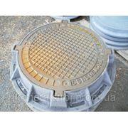 Люк чугунный канализационный легкий фото