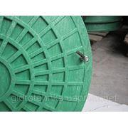 Люк канализационный полимерный тип Л (легкий) 3т зелёный с замком фото