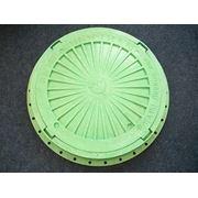 Люк канализационный пластиковый лёгкий зелёный (тип Л) 1,5 т диаметр 610мм фото