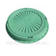 Канализационный полимерный люк легкой серии (зеленый)