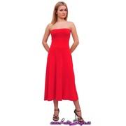 Платье женское алое, артикул 1172-2 фото