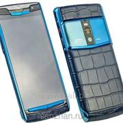 Телефон Vertu Signature Touch Alligator Metallic Blue 87101 фото