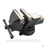 Тиски слесарные поворотные 100 мм - 150 мм (Польша) Topex. фото