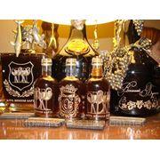 Объемная Ручная Гравировка Винных Бутылок, Бокалов фото