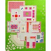 """Детский 3D ковер """"Игровой домик"""" зеленый, 100х150см (IVI) фото"""