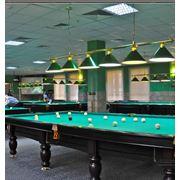 Предлагаем Вам приятно провести время в просторном зале для игры в Русский бильярд в гостинице Евпатории UNION где расставлено шесть турнирных столов «BUFFALO» Профессиональный маркер проведет блестящий инструктаж с начинающими игроками знатоки сра фото