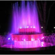 Подсветка фонтана фото