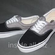 Кеды Vans Classic Era серо-черные фото