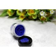 Кашемир для дизайна ногтей , синий ,большая банка. фото