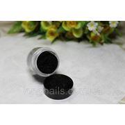 Кашемир для дизайна ногтей , черный ,5гр фото