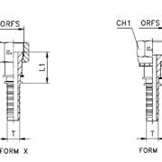 Прямой фитинг orfs предварительно обжатая гайка/накидная гайка - iso 8434-3 (sae j1453) фото