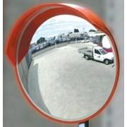 Зеркало безопасности дорожное d 600 с козырьком фото