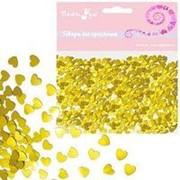 Конфетти фольгированное Сердца золотые 14гр фото