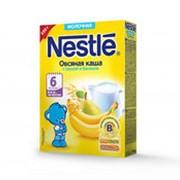 Каша NESTLE молочная овсяная с грушей и бананом, 250г фото