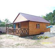 Деревянный, каркасный, перевозимый дом 6м х 8м фото