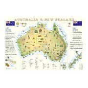 Карты географические Австралия и Н. Зеландия фото
