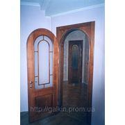 Двери арочные с багетом из дуба