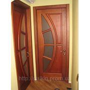 Двери с полумесяцем из ясеня