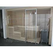 Изготовление стеклянных дверей в сауну