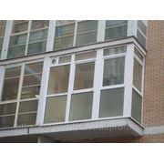 Остекление балконов фасадов фото