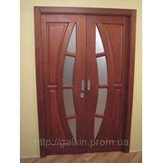 Двери с полумесяцем из дуба