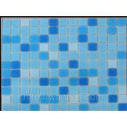 Китайская стеклянная мозаика DC - 02 Голубой микс производства Китай МИКС ДЛЯ БАССЕЙНА фото
