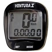 VENTURA X велокомпьютер проводной, 10 в 1, Чёрный фото