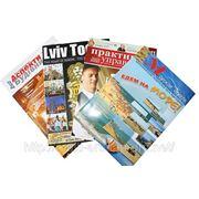 Печать журналов. Блок - меловка обложка лак/ламинация. фото