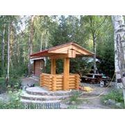 Беседки деревянные здания брус сосна берёза дуб осина ясень фото