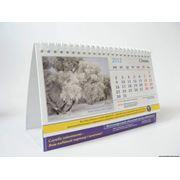 Печать календарей настенных квартальных карманных календарей-домиков и т.д. фото