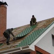 Монтаж крыш из металлочерепицы фото