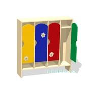 Шкаф для раздевалки четырехсекционный ламинат МД-07.01-Л фото