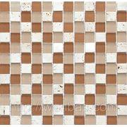 """Микс из мозаики """"Мрамор стекло""""C S11(2,3 х 2,3 см) фото"""
