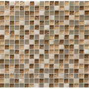 Мозаика стеклянная с добавлением Мрамора DAF 1(1,5 х 1,5 см) фото