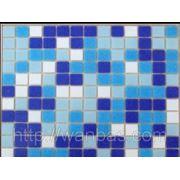 Стеклянная мозаика DC - 01 бело-голубой МИКС производства Китай МИКС ДЛЯ БАССЕЙНА фото