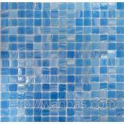 Нежно голубая Стеклянная мозаика YB 06 фото