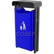 Урна уличная для сбора мусора объемом 35 литров, арт.12.34.57 фото
