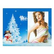 Фоторамка Сима 10*15 стекло Снеговики у елки в новогоднюю ночь фото