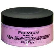 Акриловая пудра Premium Ultra Pink насыщенная розовая, 142 г фото