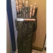 Шампуры с деревянными ручками и гравировкой  фото