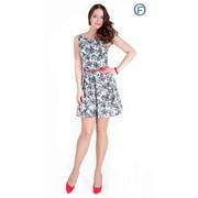 Платье с поясом Артикул: 461-2 фото