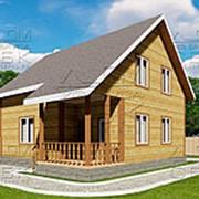 Проект дома из профилированного бруса 8 х 9 «Твистово» фото