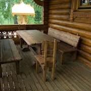 Деревянная мебель в дом, беседку, баню. фото