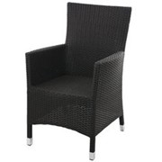 Кресло плетеное из искусственного ротанга фото