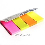 Стикер-закладка, 4 цвета по 40 бумажных листиков, 20 х 50 мм, forpus FO42026 фото