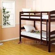 Двухъярусная кровать Твайс из натурального дерева фото