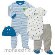 Комплект для мальчика на Монстрик 6, 9 месяцев фото