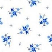 Ткань постельная Ситец 90 гр/м2 80 см - Цветы на белом/S501 SHS фото