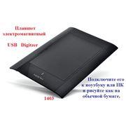 Дигитайзер электромагнитный. Графический электромагнитный Digitzer USB планшет Huion 580. фото